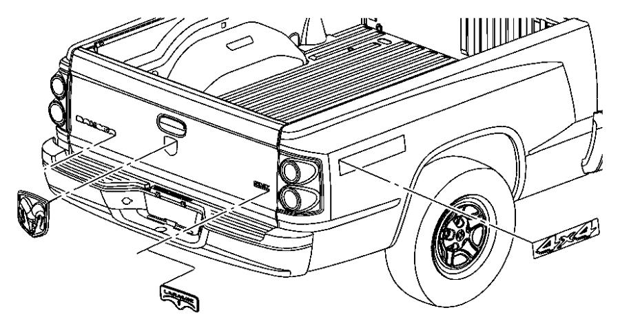 2005 dodge dakota fender diagram