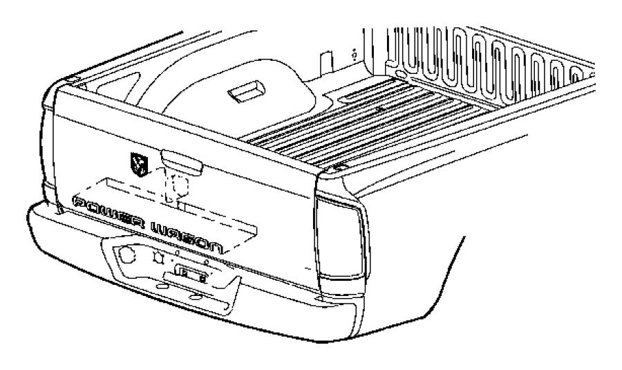 2008 dodge ram 2500 nameplate  tailgate    powerwagon