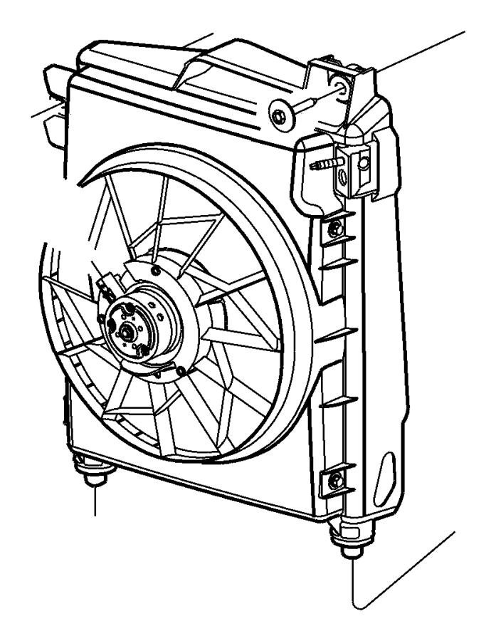 2005 dodge ram 2500 motor  condenser fan