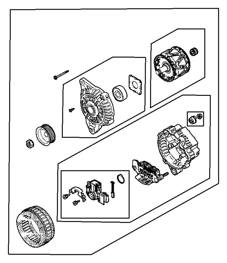 2001 dodge stratus screw package  alternator  set  engine