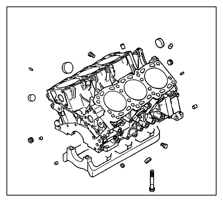 chrysler sebring engine  short  block  cylinder