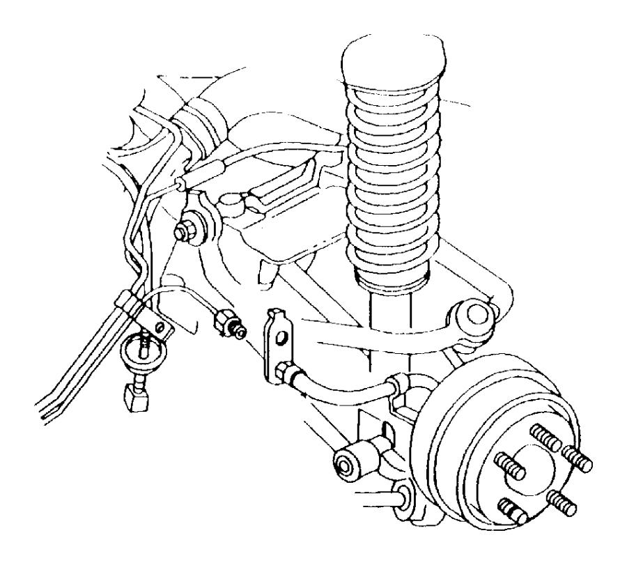 1999 Chrysler Cirrus Hose  Brake  Left   Drum  W  Prop