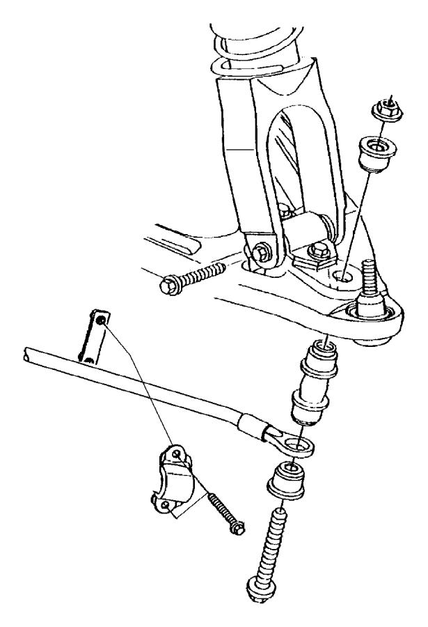 2005 dodge stratus bushing  stabilizer bar  discanti
