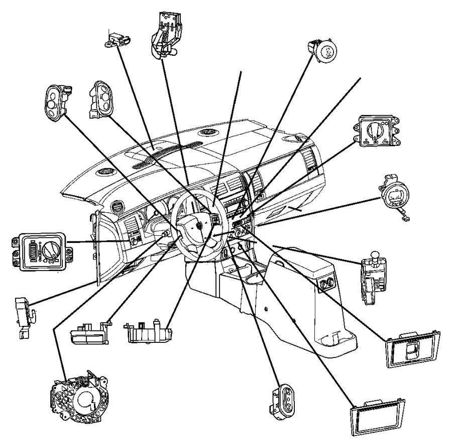 dodge durango clockspring  steering column control module