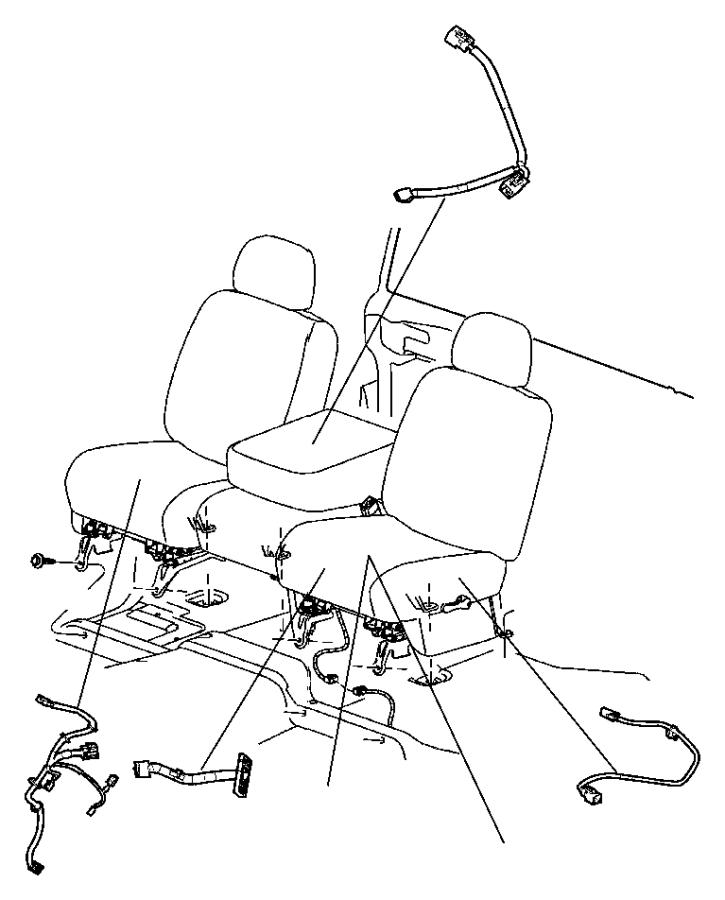 2011 dodge grand caravan wiring  left  left seat  switch  jumper  power seat  trim    vl
