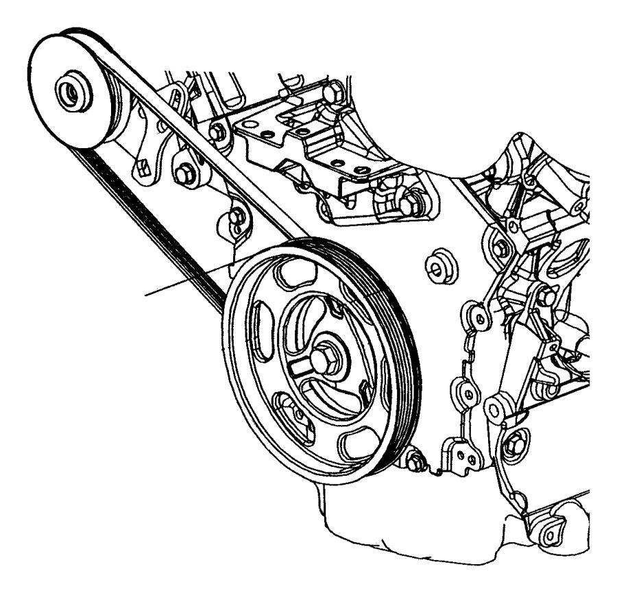 2005 chrysler sebring belt  power steering  rack  feel
