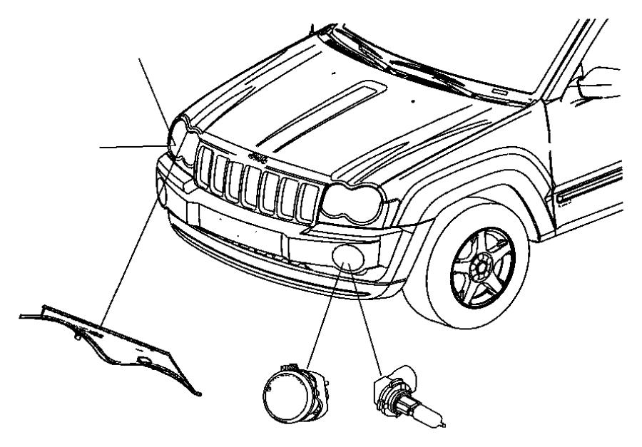 2012 dodge durango wiring  headlamp  right or left  front