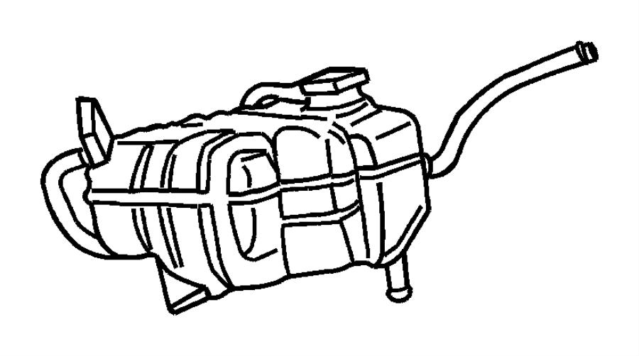 2008 chrysler sebring bottle  pressurized coolant