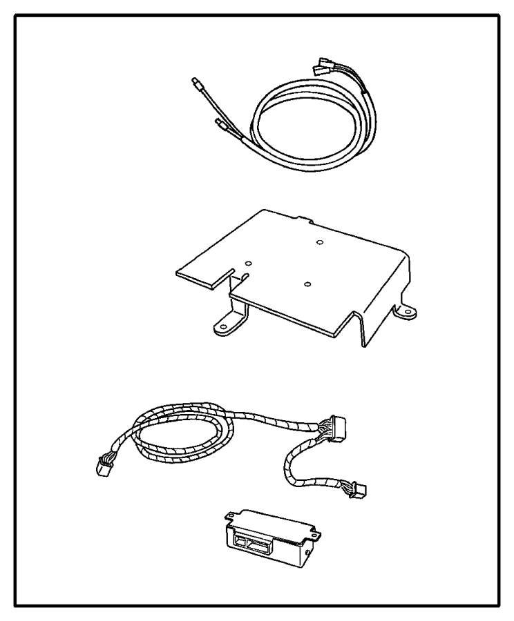 2006 chrysler pacifica install kit  satelite receiver
