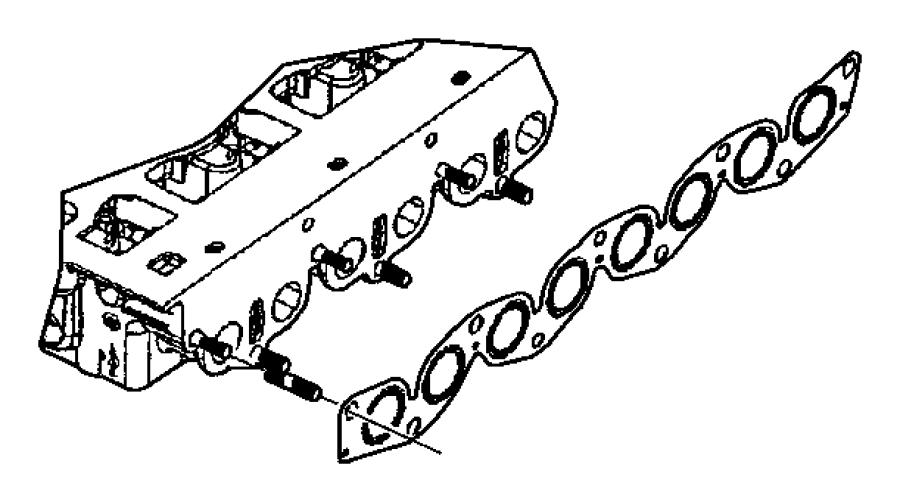 2008 chrysler pt cruiser gasket  intake  exhaust manifold  adjusters  enr  recliners
