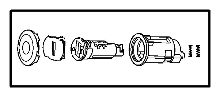 2008 jeep liberty retainer  door cylinder to handle  phalf