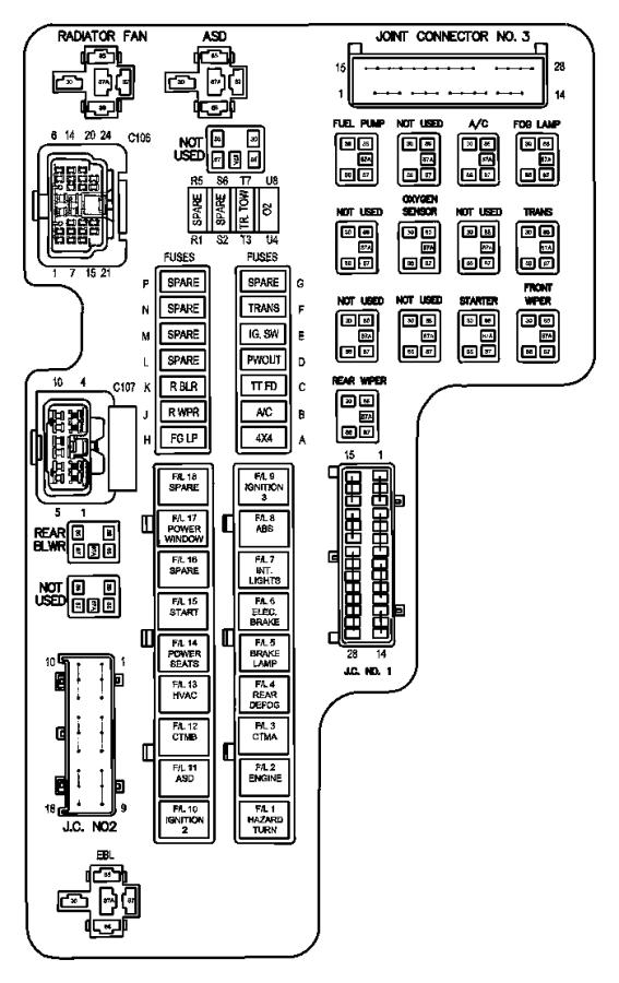 1998 Dodge Ram 2500 Fuse  J Case  40 Amp  Export  Mexico  Trim   No Description Available