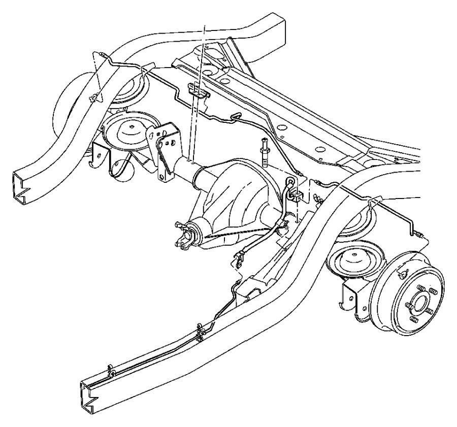 chrysler 300 tube  brake  rear  proportioning valve to