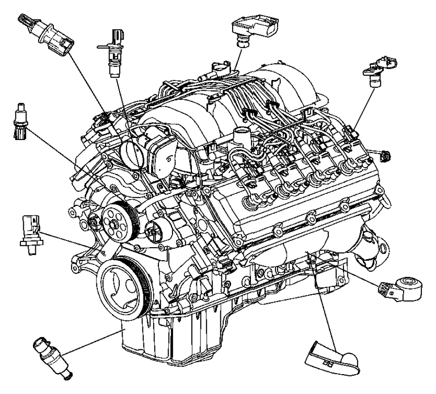 2013 dodge challenger sensor  crankshaft position  engine