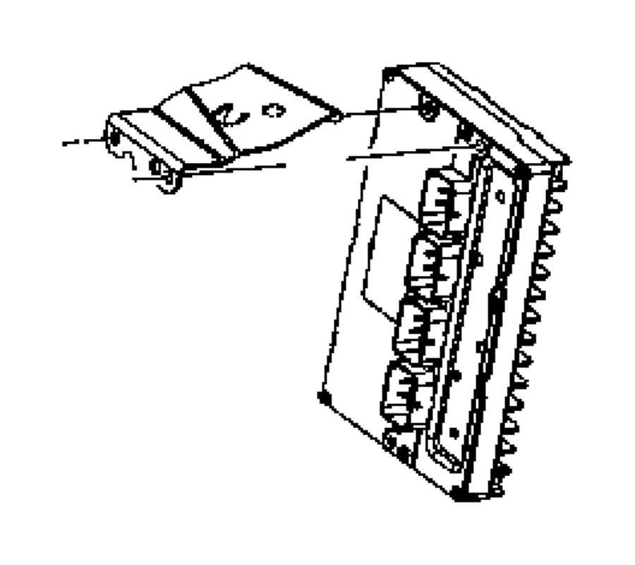 2006 dodge magnum module  powertrain control  new part for core return