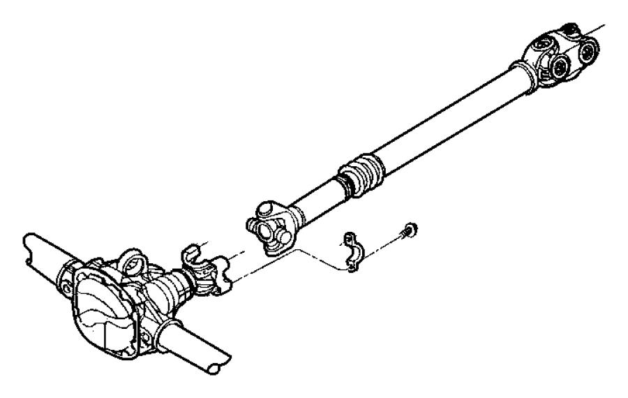2003 jeep wrangler front drive shaft diagram
