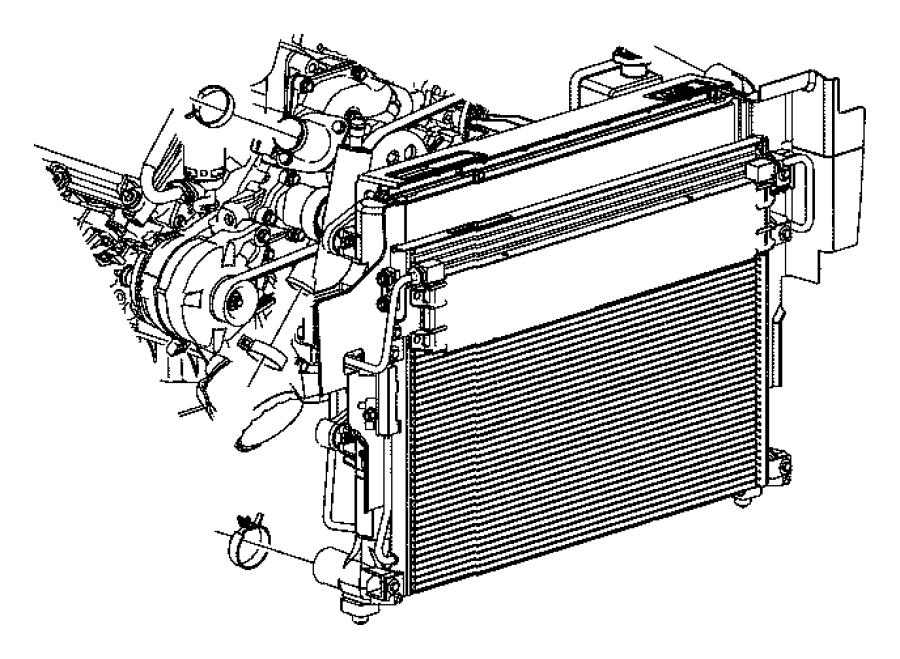 jeep commander radiator  engine cooling