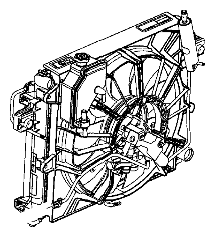 2013 Chrysler 200 Fan Module Used For Fan And Motor Assy