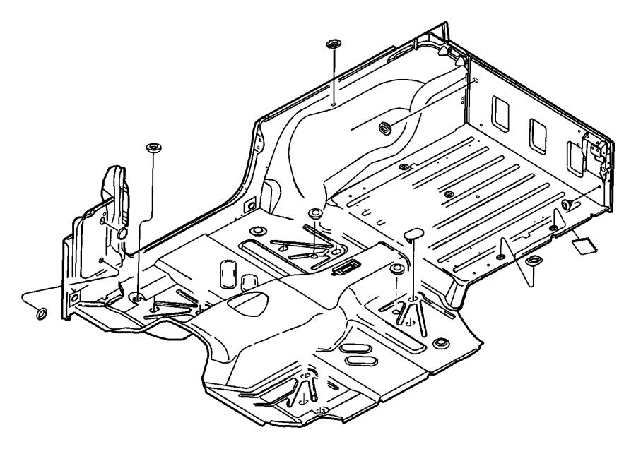 2013 jeep grand cherokee plug  floor pan  rubber  liftgate