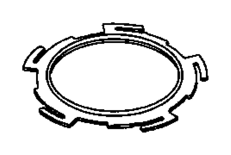 2004 chrysler pacifica cam  nut  ring  fuel pump module