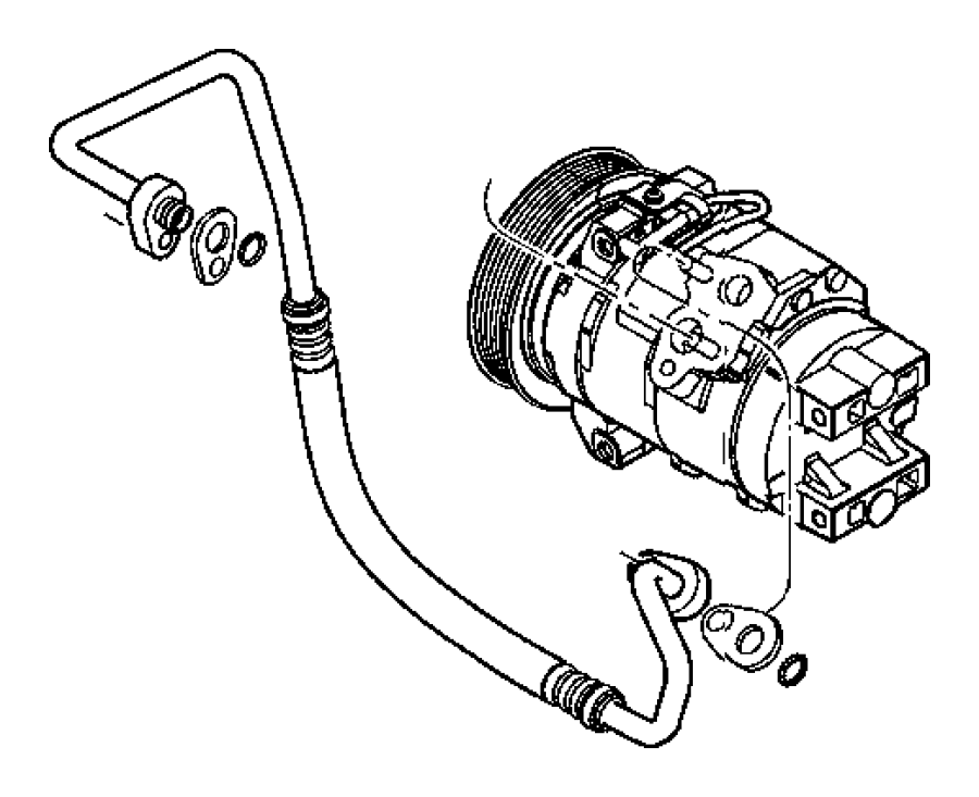 2005 chrysler pacifica line  a  c discharge  air  conditioning  plumbing