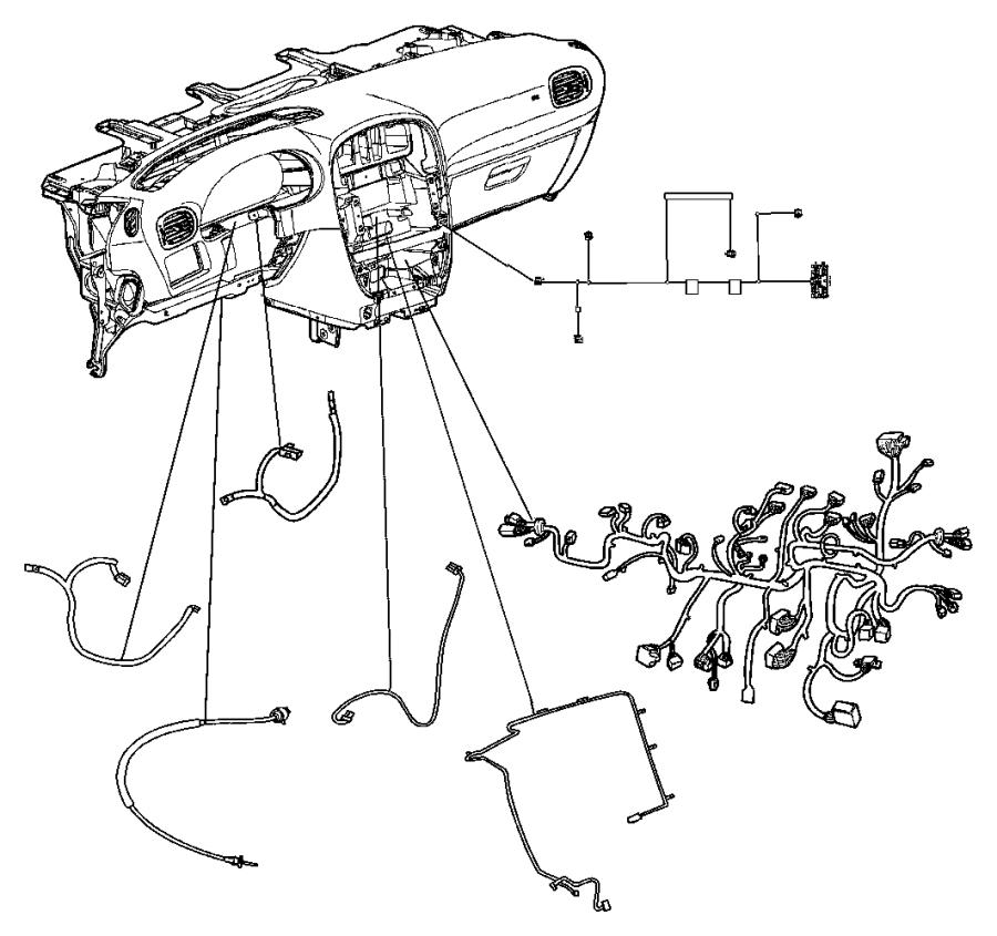2006 dodge caravan wiring  instrument panel  hah