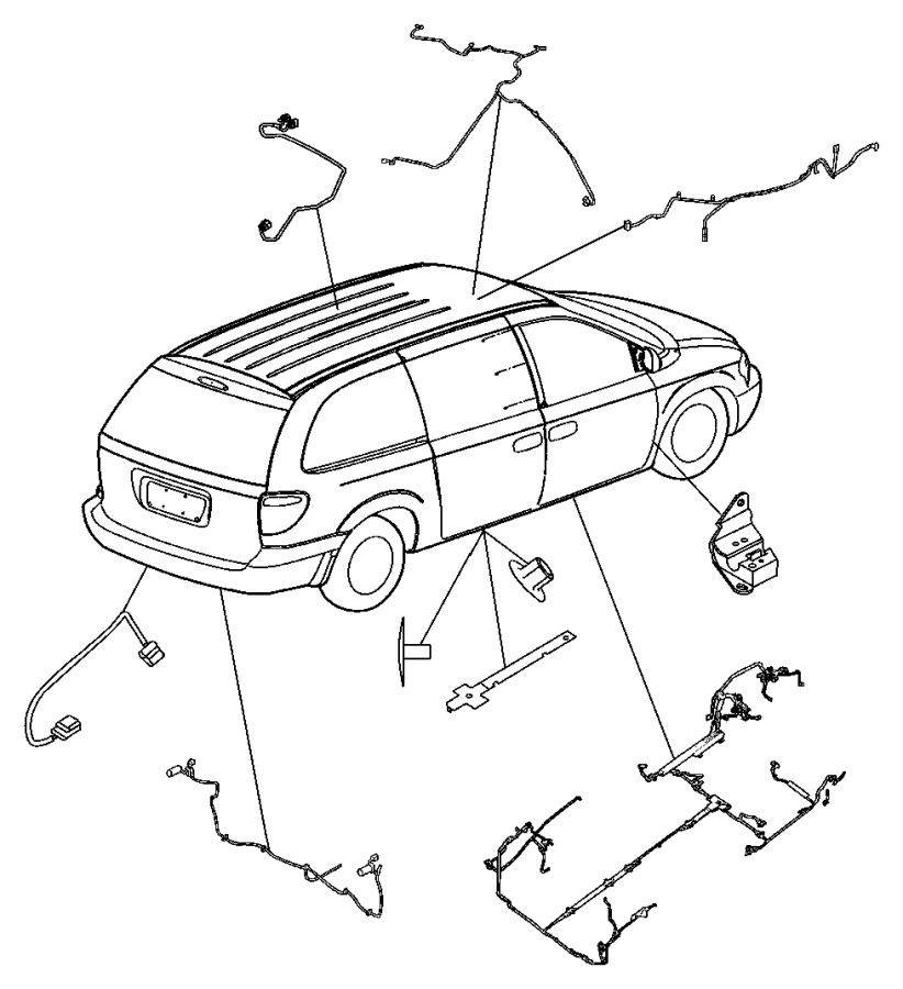2004 dodge grand caravan wiring  sunroof  body  power