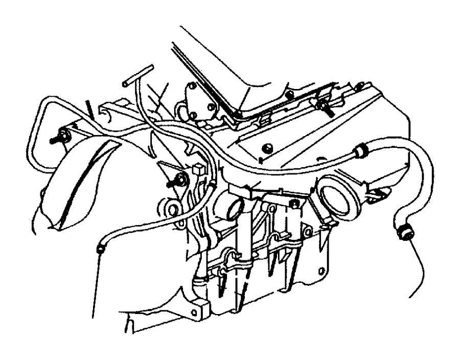1997 Dodge Intrepid Hose  Heater  Heater Return  Water