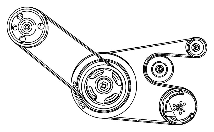 Chrysler Sebring Belt  Accessory Drive