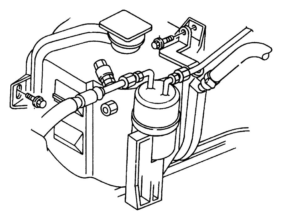 2002 dodge durango hose  coolant recovery bottle  overflow
