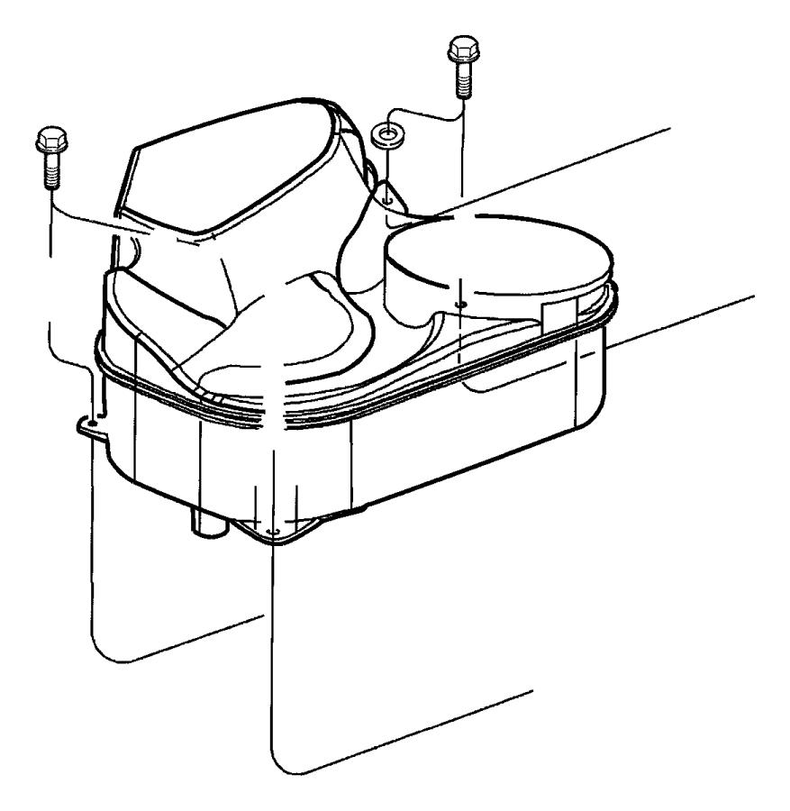 2002 dodge viper plenum  blower motor inlet