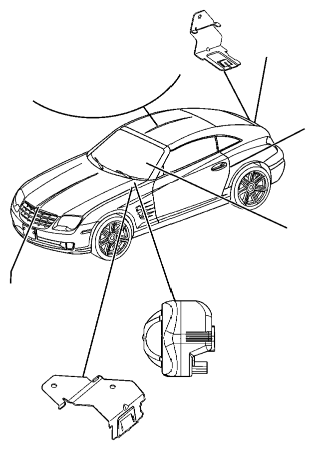 2006 chrysler crossfire wiring  alarm  module  intrusion