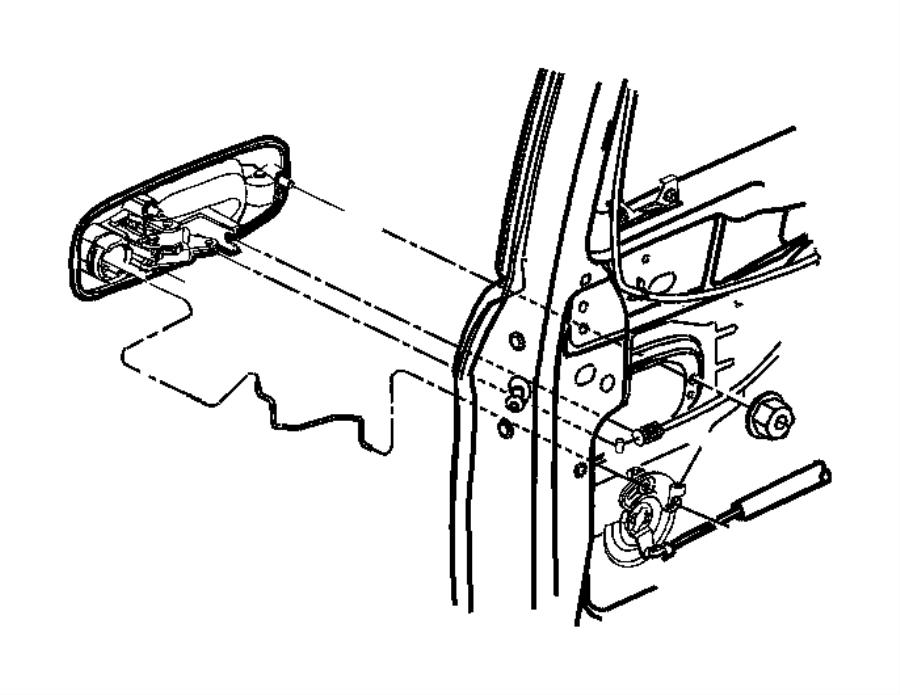 2005 dodge caravan lever  sliding door  left   door