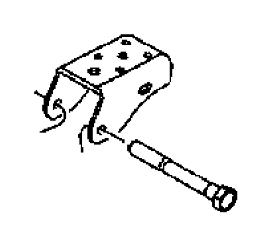 1999 chrysler town  u0026 country bolt  hex head  pivot  rear