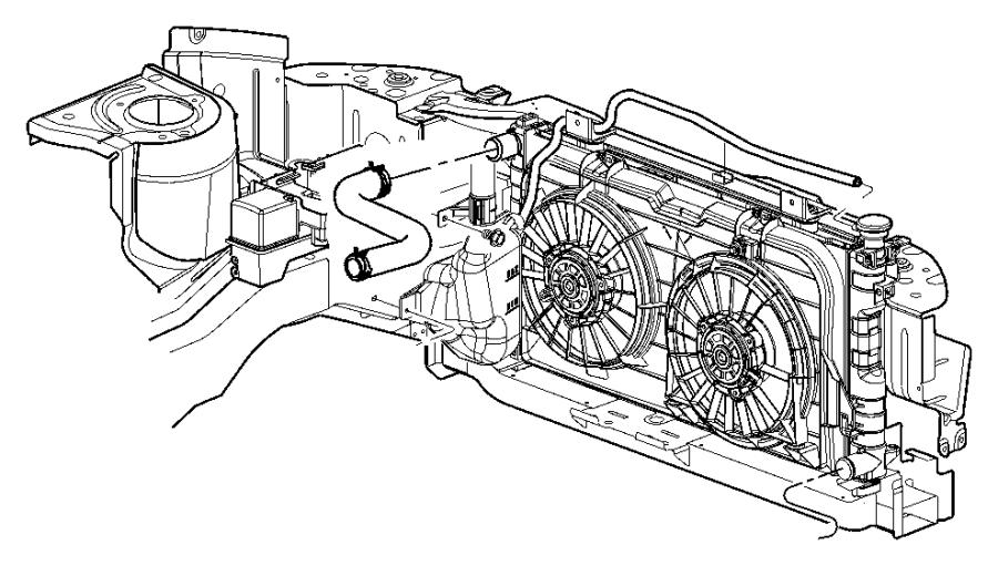 2006 Dodge Grand Caravan Isolator  Crossmember  Radiator  Lower  Related