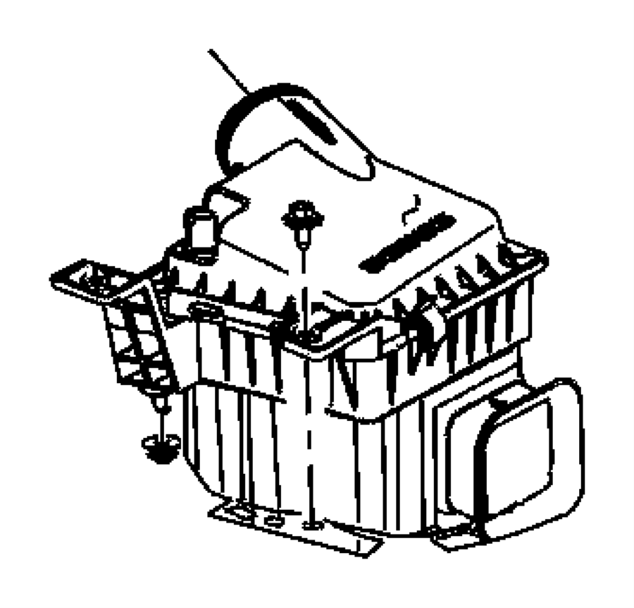 chrysler aspen cover  air cleaner  evaevd  ekg
