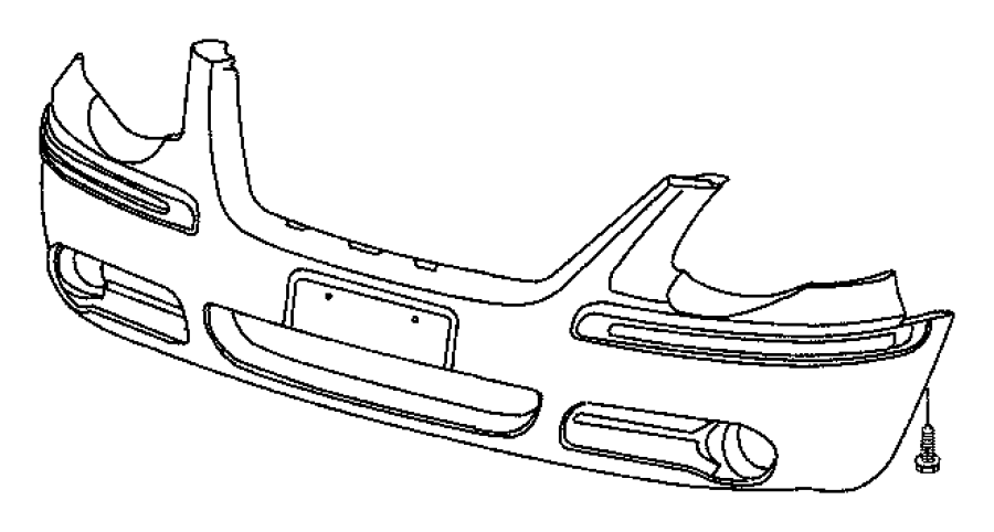 2005 dodge grand caravan molding  fascia   front body