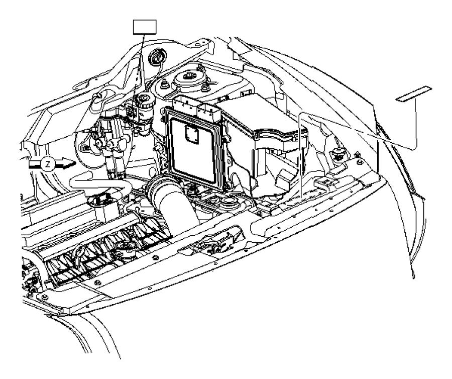 2008 Chrysler Pacifica Label. Battery. European, Equipment
