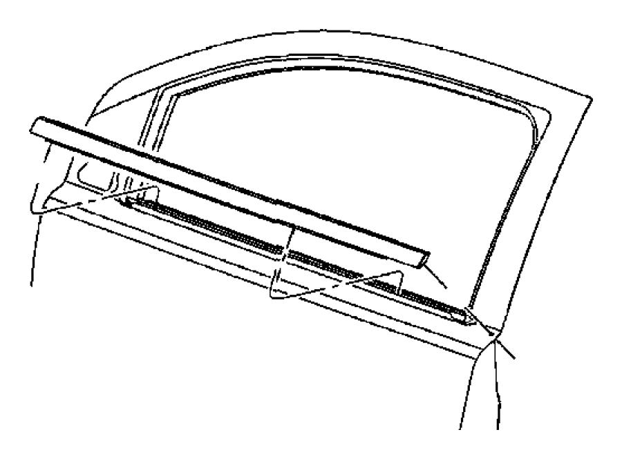 2011 dodge caliber weatherstrip  front door belt  left