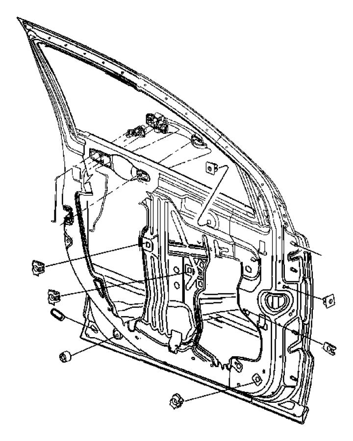 2011 Dodge Caliber Glass Left Front Door Interior 05074211ae Mopar Parts Inc Myrtle