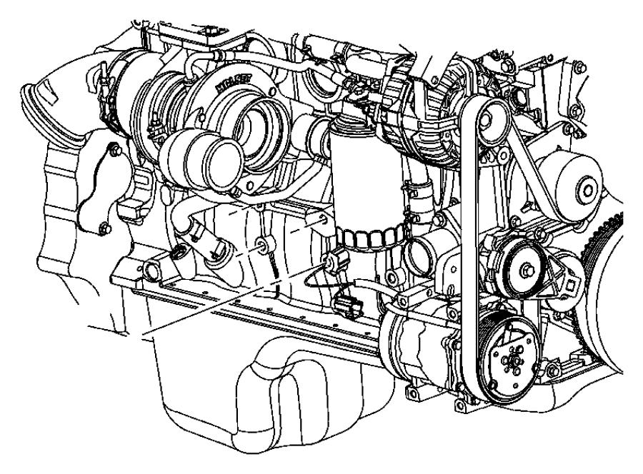 2012 dodge ram 3500 bracket  engine mount  left side