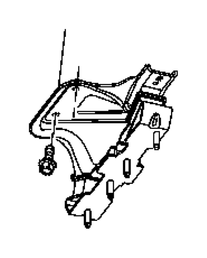 Ram    2500 Used for  BRACKET AND INSULATOR Transmission
