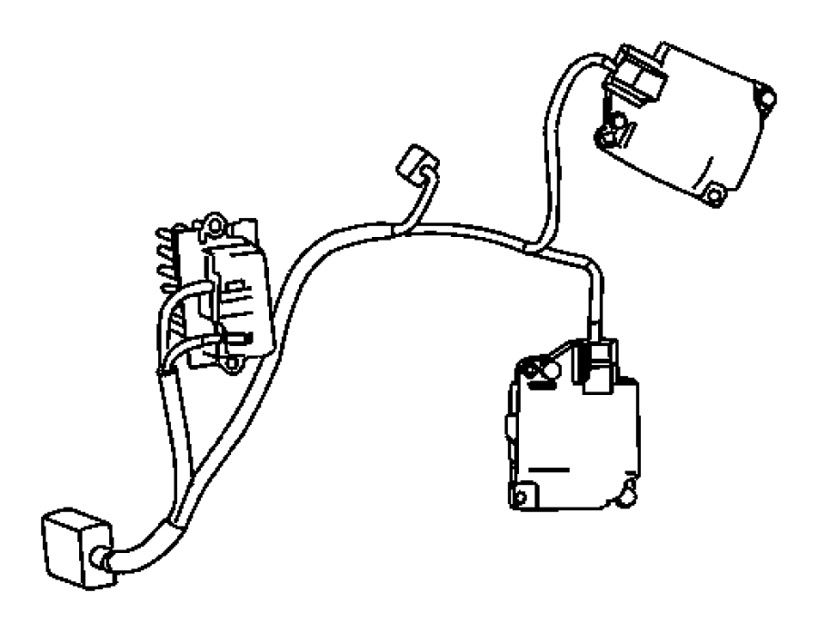 2006 Dodge Grand Caravan Wiring  Used For  A  C And Heater