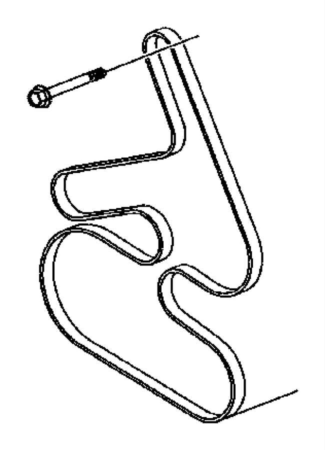 2006 Chrysler Pacifica Belt  Accessory Drive  Serpentine
