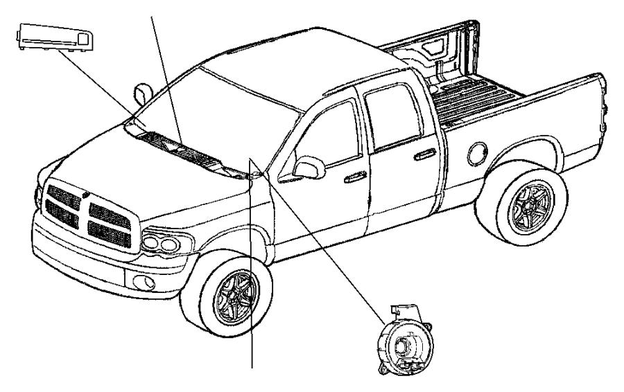 2007 dodge dakota clockspring  steering column control module