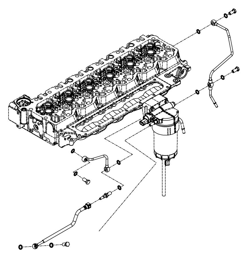 2008 dodge ram 5500 tube  drain  fuel  emissions  filter