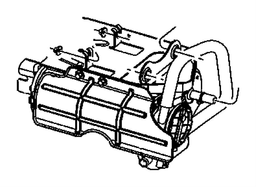 2007 chrysler aspen canister  vapor  tall  pnfw