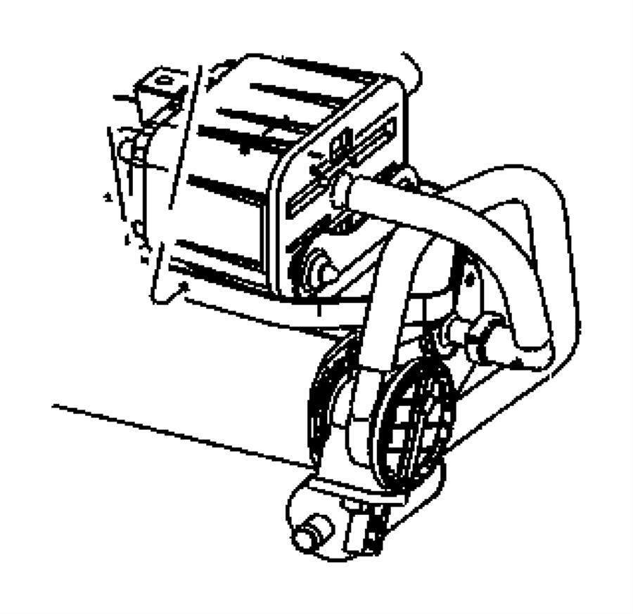 2008 dodge ram 1500 hose  filter to canister  leak