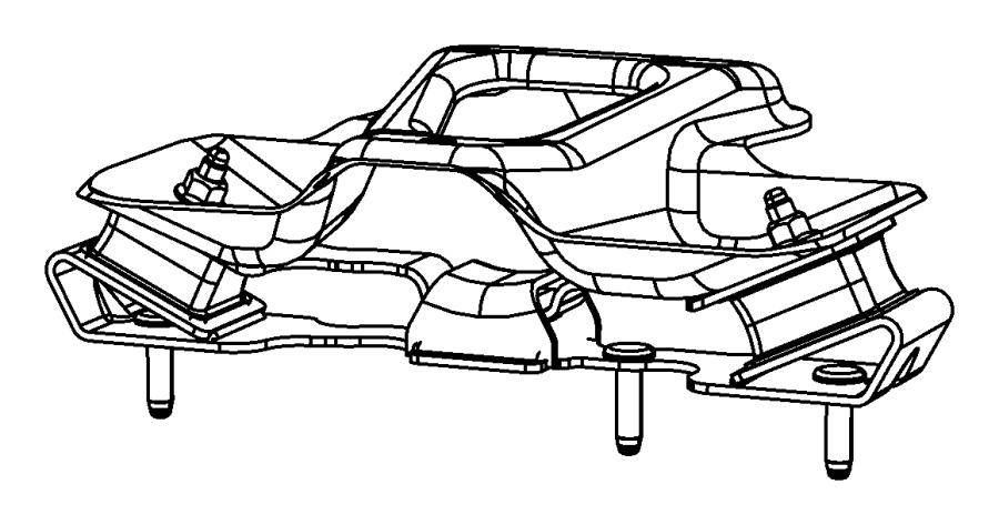 2010 jeep wrangler insulator  isolator  transmission mount  transmission support