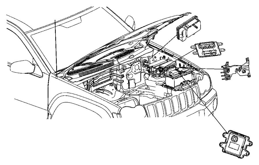 2007 jeep commander module  front control  tow  trailer